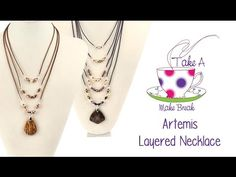 the clasp at the end is cool too Artemis Necklace Tutorial   Take A Make Break with Sarah ♡ - YouTube