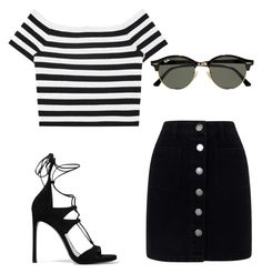 """Untitled #4"" by iistayzoriginal on Polyvore featuring Stuart Weitzman, Alice + Olivia, Miss Selfridge and Ray-Ban"