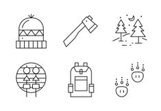 'Camping in the wild' by Mangsaabguru . Camping Icons, Christmas Icons, Outdoors, Nature, Naturaleza, Outdoor Rooms, Nature Illustration, Off Grid, Off Grid