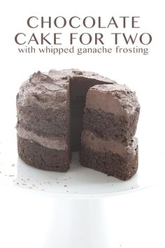 Rich and delicious low carb chocolate layer cake with whipped chocolate ganache. A heavenly little dessert in miniature for you and a friend or two. Or just you. This is a little cake with a big n…