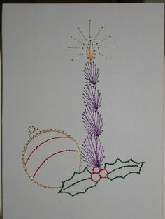 Card Embroidery - Christmas card