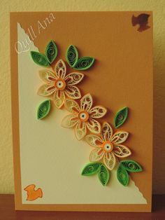 Quilling Birthday Cards, Paper Quilling Cards, Paper Quilling Patterns, Origami And Quilling, Quilled Paper Art, Quilling Work, Neli Quilling, Quilling Craft, Quilling Flowers