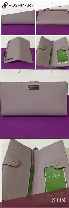 Kate Spade Stacy Wallet - lilacbliss  NWT. Kate Spade Stacy Wallet - lilacbliss  NWT. NO TRADES kate spade Bags Wallets