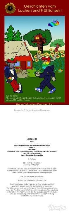 """#Kinderbuch #Leseprobe """"Geschichten vom Lachen und Fröhlichsein"""" - Magazine with 13 pages:  Band 1 der Abenteuer vom Regenbogen-Elch ..."""
