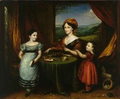 1825 Portrait of Mrs Darling and Two of her Children 1825