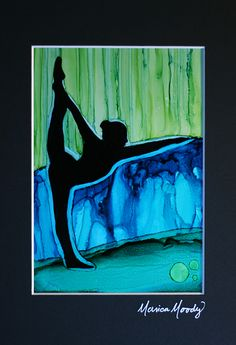 Yoga-inspired alcohol ink painting - 5x7 Yupo -by Monica Moody