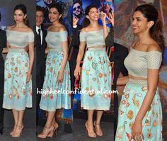 love the print! ♥Deepika Padukone In Pankaj And Nidhi At 'Happy New Year' Song Launch-1