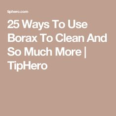 25 Ways To Use Borax To Clean And So Much More   TipHero