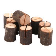 4.44AUD - 10Pcs Wooden Wedding Name Place Card Holders Home Decor Sh Q2F7 #ebay #Home & Garden