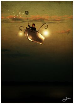 {Fishing for fireflies to fuel his flying lanterns...} I can't top that.