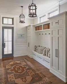 This entryway; only with cubbies below bench for shoe storage. 2019 This entryway; only with cubbies below bench for shoe storage. The post This entryway; only with cubbies below bench for shoe storage. 2019 appeared first on Entryway Diy. Entry Way Design, Foyer Design, House Design, Garage Design, Mudroom Laundry Room, Bench Mudroom, Entry Bench, Mudroom Cubbies, Hall Bench