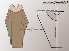 MAKE AN EASY KAFTAN (or CAFTAN) I used 2 yards of soft batik print that looks good on both sides. Diy Clothing, Sewing Clothes, Gypsy Clothing, Dress Sewing Patterns, Clothing Patterns, Fashion Sewing, Diy Fashion, Steampunk Fashion, Gothic Fashion