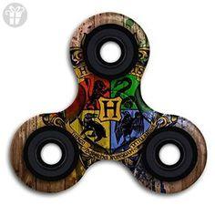 Harry Potter Hogwarts School Logo EDC Tri Fidget Spinner Hand Spinner Finger Spinner Finger Toy Relieve Stress High Speed Focus Toy For Adult And Children - Fidget spinner (*Amazon Partner-Link)
