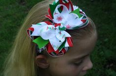 Funky Christmas Bow on Etsy, $5.99