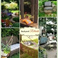 Backyard Retreat Ideas to Inspire You.  These backyard retreat ideas are perfect for a lazy day.  From a simple stone chair to a lavishly planted shady nook, these are all my idea of a great backyard retreat. Before you can get too far into the inspiration spaces, you will need to look around ...