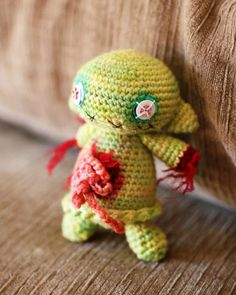 Crochet zombie with guts, okay @Amy Crane maybe you don't love it but I sure do!