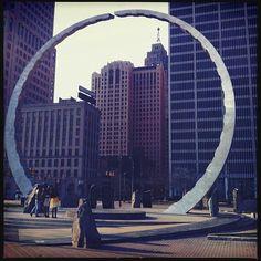 Hart Plaza, Detroit. Labor Memorial