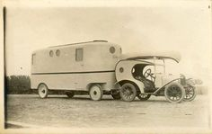 Old time travel trailer