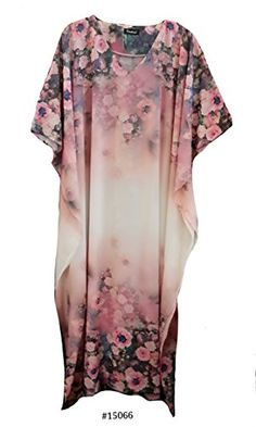 Ladies  with fully floral print satin long kaftan//holiday//beach dresss 10-32