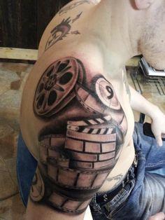 film #tattoo #movietattoo #filmtattoo #filmstrip #filmstriptattoo # ...