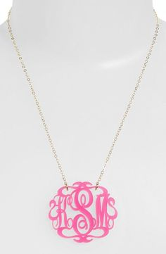So cute! Love this monogrammed necklace. Great gift idea.