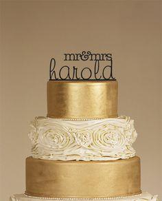 Custom Wedding Cake Topper  Personalized Monogram by CAKETOPPER07, $12.00