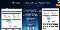 xSystem admin template ... nice dashboard full of charts