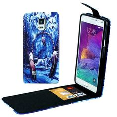 For Galaxy Note 4 Wolf Pattern Vertical Flip Leather Case with Card Slots via WorlDixount Discount
