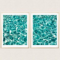 Check out this item in my Etsy shop https://www.etsy.com/listing/252719504/turquoise-water-diptych-waves-ocean-sea