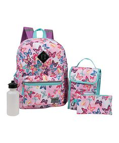 This Pink Butterfly Field Backpack Set by Mad Labs is perfect! #zulilyfinds