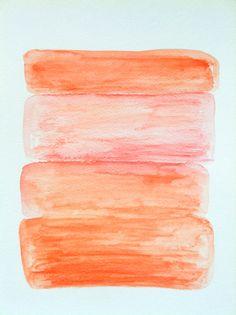 Abstract Original Water Color Painting  Orange by LeylasPaintings, $20.00