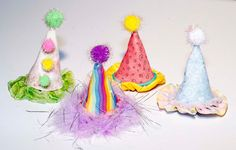 MiniParty Hats by tinkeringwithjoy on Etsy