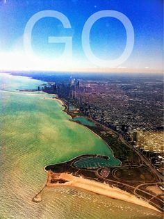 GO  flying over chicago  *taken and made on my iphone*