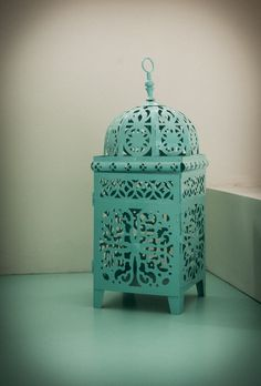 Teal bird cage. #decor #interior