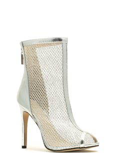 Nothing But Net Mesh Booties SILVER Bootie Boots, Ankle Boots, Silver Boots, Mesh, Booty, Gold, Shoes, Fashion, Ankle Booties