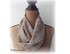 Cheetah Infinity Scarf  Cowl  Loop Scarve by UrbanScarfs on Etsy