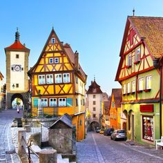 Rothenburg ob der Tauber is part of the Romantic Road that winds through southern Germany. This medieval town is so picture perfect and well preserved we're not sure how anyone continues on to explore the rest of the Romantic Road! Rothenburg Ob Der Tauber, Romantic Road, Beau Site, Voyage Europe, Street House, Medieval Town, Germany Travel, Travel Europe, Lonely Planet