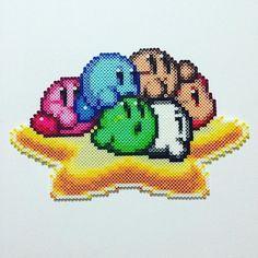 Kirby perler beads by thatsaki Perler Beads, Perler Bead Art, Fuse Beads, Perler Earrings, Minecraft Pattern, Pixel Pattern, Pixel Art, Pearler Bead Patterns, Perler Patterns