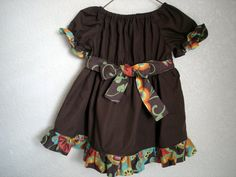 Items similar to Brown Peasant Dress with Bohemian Print Size 9 to 12 months on Etsy Bohemian Print, Sadie, Grandkids, 12 Months, Kid Stuff, Summer Dresses, Sewing, Brown, Sweet
