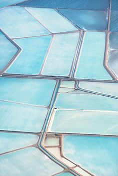 Aerial photos of the Useless Loop Salt Fields in Australia http://www.wired.com/2015/09/simon-butterworth-blue-fields/?mbid=social_twitter
