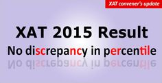 """XAT  Result Centre 2015 has clarified in unambiguous terms that there is no discrepancy in scores."""