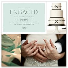 'knotted' engagement party inspiration board