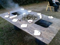 Oyster Roast Table