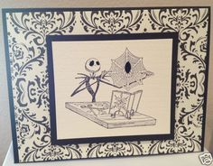 Nightmare Before Christmas Jack Skellington Greeting Card Spider Handmade | eBay