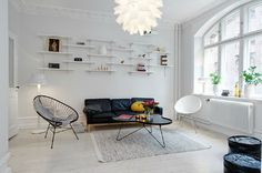 white shelves / living room
