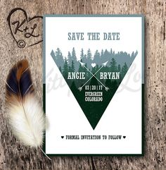 Announce your wedding date to family and friends with a stylish Save The Date from Kitty Loves Lou!  NOTE: THIS LISTING IS FOR A PRINTABLE DESIGN