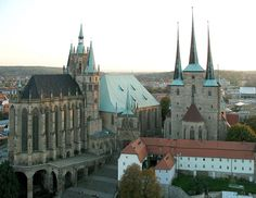 Erfurt cathedral and severi church