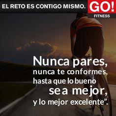 Nunca pares... #gofitness #clasesgo #ejercicio #gym #fit #fuerza #flexibilidad #reto #motivate