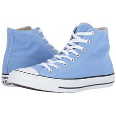 Converse Chuck Taylor All Star Hi (Pioneer Blue) Classic Shoes (€47) ❤ liked on Polyvore featuring shoes, sneakers, canvas shoes, blue shoes, converse sneakers, converse high tops and canvas high tops