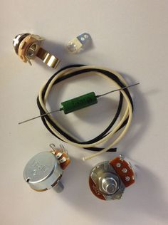US Spec Wiring Harness Kit For Precision Bass .1uf Soviet Paper In Oil Cap #AxegrinderzToneProducts